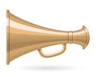 Megaphone. Antique megaphone isolated on white (Vector Royalty Free Stock Photo