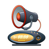 Megaphone alarm clock Royalty Free Stock Image