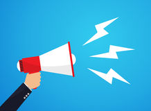 Megaphone. Announced by megaphone, Vector Illustration Royalty Free Stock Images