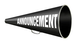 Megaphone Announcement Stock Image