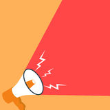 Megaphone announcement banner Royalty Free Stock Photo