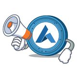 With megaphone Ardor coin character cartoon. Vector illustration Royalty Free Stock Image