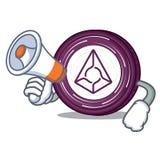 With megaphone Augur coin character cartoon. Vector illustration Royalty Free Stock Photos