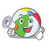 With megaphone ball character cartoon style Royalty Free Stock Images