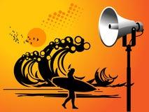 Megaphone on beach Royalty Free Stock Image