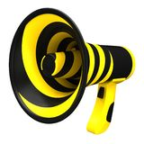 Megaphone in bright colors. Stock Photo