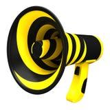 Megaphone in bright colors. Stock Photo