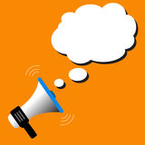 Megaphone bubble speech vector. Megaphone with bubble speech vector Royalty Free Stock Photo