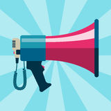 Megaphone bullhorn communication message loud speaker vector illustration Stock Image