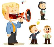 Megaphone. Business People Stock Images