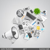 Megaphone business style set 1 Stock Photography