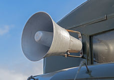 Megaphone on car. The Megaphone on old car Stock Photography