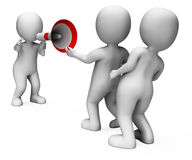 Megaphone Character Shows Motivation Authority And Do It Royalty Free Stock Photos