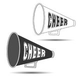 Megaphone Cheer. Used by cheerleaders with the word cheer on them. Vector illustration vector illustration