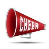 Megaphone Cheer. Megaphone-Cheer used by cheerleaders with the word cheer on them. Vector illustration stock illustration