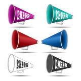 Megaphone Cheer. Megaphone-Cheer used by cheerleaders with the word cheer on them. Vector illustration royalty free illustration