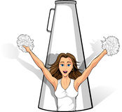 Megaphone Cheerleader Royalty Free Stock Image