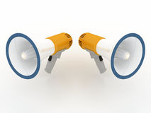 Megaphone concept. A 3d image of megaphone concept Royalty Free Illustration