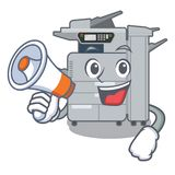 With megaphone copier machine in the cartoon shape. Vector illustration royalty free illustration