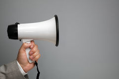 Megaphone with copy space Stock Images