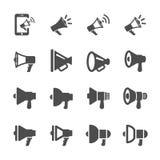 Megaphone different design icon set, vector eps10 Stock Images