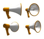 Megaphone - different viewpoints Stock Image