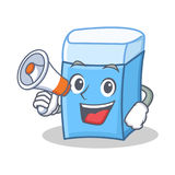 With megaphone eraser character mascot style. Vector illustration Stock Photos