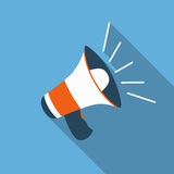 Megaphone flat icon Stock Photography