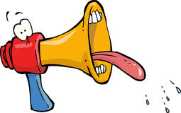 Megaphone. Funny megaphone on white background vector Royalty Free Stock Photography