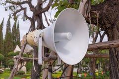 Megaphone in garden at public park Stock Images