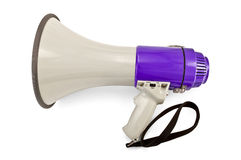 Megaphone gray and lilac Stock Photos