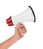 Megaphone in hand stock images