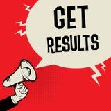 Megaphone Hand business concept Get Results. Megaphone Hand business concept with text Get Results, vector illustration Stock Images