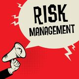 Megaphone Hand business concept Risk Managment. Megaphone Hand business concept with text Risk Managment, vector illustration Royalty Free Stock Photography