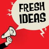 Megaphone Hand business concept Fresh Ideas. Megaphone Hand business concept with text Fresh Ideas, vector illustration Royalty Free Stock Photo