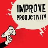 Improve Productivity business concept. Megaphone Hand business concept with text Improve Productivity, vector illustration Stock Photo