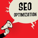 SEO Optimization business concept Royalty Free Stock Images