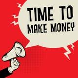 Time to Make money business concept. Megaphone Hand business concept with text Time to Make money, vector illustration Stock Images