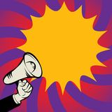 Megaphone Hand, business concept Royalty Free Stock Images
