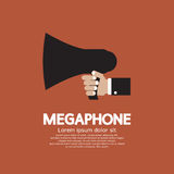 Megaphone. Hand Holding A Megaphone Vector Illustration Royalty Free Stock Photos