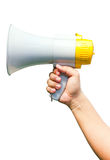 Megaphone In Hand. Royalty Free Stock Photography