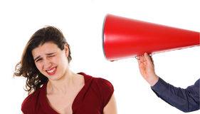 Megaphone Harrassement Royalty Free Stock Photo