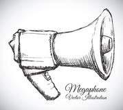 Megaphone icon Royalty Free Stock Images