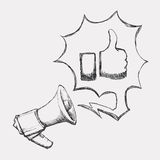 Megaphone icon Stock Image