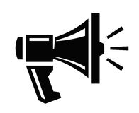 Megaphone icon Royalty Free Stock Photo