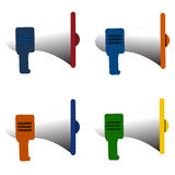 Megaphone icon isolated vector Stock Photos