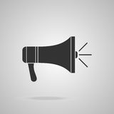 Megaphone icon. Loudspeaker isolated Royalty Free Stock Photo