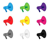 Megaphone Icons Royalty Free Stock Images