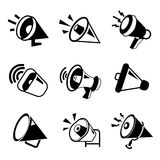 Megaphone icons Royalty Free Stock Image