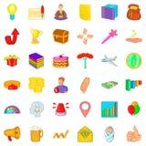 Megaphone icons set, cartoon style Stock Images